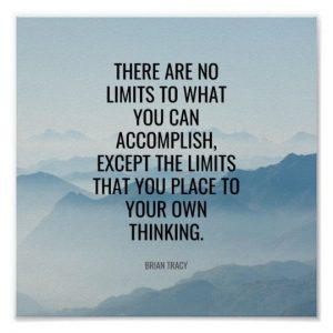 No Limits Inspirational and Motivational Poster and Wall Decor